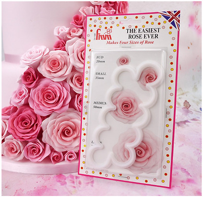 Fmm The Easiest Rose Cutter Cupcake Decoration Tool Sugarcraft
