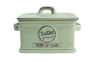 T&G Pride of Place Butter Dish Green