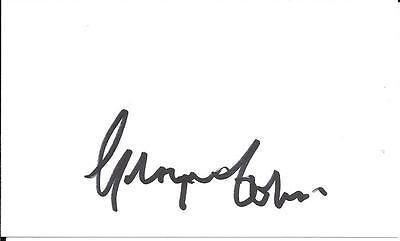 George Cohen England World Cup 66 & Fulham Signed White Card