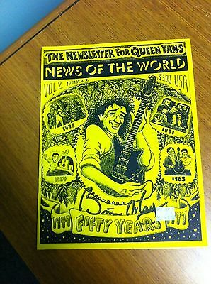 Queen Usa News Of The World Fan Club Newsletter 1997 Original Brian May Cover