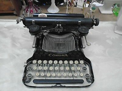 Antique Corona No.3 Folding Portable Typewriter 1917 Hemingway's Favorite