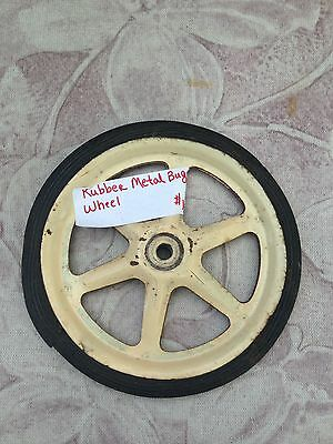 Antique Metal Child's Doll Buggy Rubber Wheel