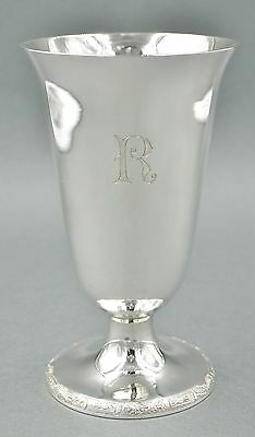 Fine Antique Chinese Sterling Silver Art Deco Water Wine Goblet 230 GRAMS #7