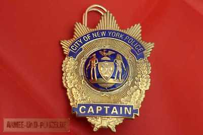 Historisches Captain New York Police US Badge Abzeichen ORIGINAL