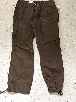 Old Navy Maternity Pants Brown/Charcoal Low Rise Waist size L NWT