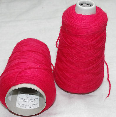 Texere Falkland 100% wool  4ply knitting yarn 360g red