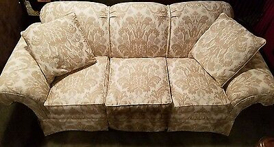 Baker Sofa with New Scalamandre Damask Fabric  Baker Stately Home