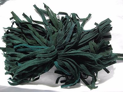 100 Strips Of A Mix Of Green Color Repurposed Rug Hooking Wool