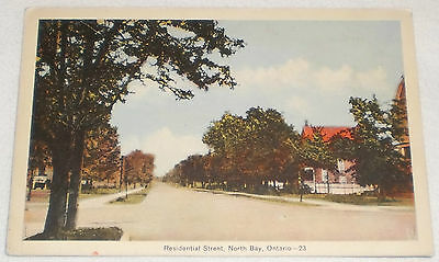 Residential Street , North Bay Ontario postcard