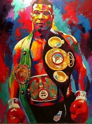 Mike Tyson Boxer,Hand-painted oil painting wall art home decor 24x32inch