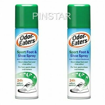 2 X  Odor-Eaters Sports Foot & Shoe Spray (150ml each) MAXIMUM STRENGTH