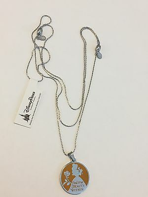 Disney Alex and Ani Belle Silver Necklace Find True Beauty Within Beauty Beast