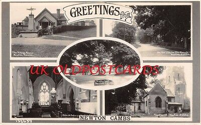Cambridgeshire - NEWTON, Five Views of the Village, Real Photo.