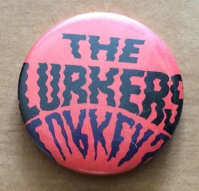The LURKERS VINTAGE 1970`s - 1980's  Pin Badge Hard TO FIND NOW!
