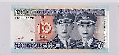 2001 Lithuania 10 Litu Gem UNC