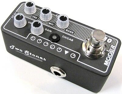 Used Mooer Two Stones 010 Digital Micro PreAmp Guitar Effects Pedal