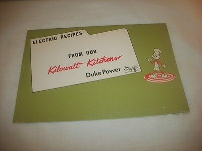 Vintage Ready Kilowatt Duke Power Recipes Cook Book