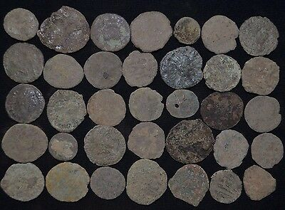 Collection of 35 Ancient Roman Bronze coins. Roman Imperial, circa 235-476 AD.