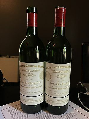 TWO Chateau Cheval Blanc 1989 Grand Cru Empty