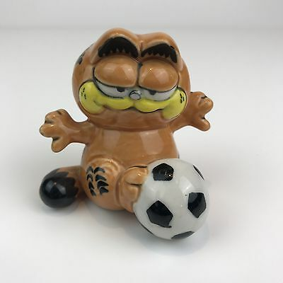 1976 Garfield Cat with Football Vintage Ornament United Features Syndicate