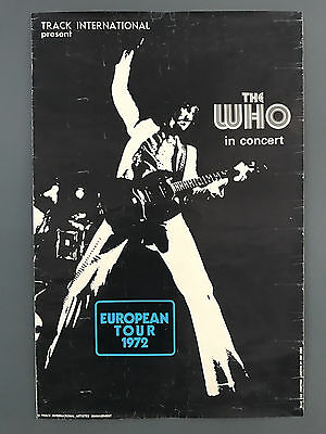 Original  Vintage 'The Who' 1972 European Tour Poster