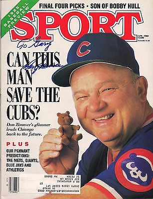 Beautiful 1988 Sport Magazine Don Zimmer Chicago Cubs Cover Autograph Signed