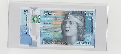 2016 Scotland £5 Pounds Set of 4 Notes Royal Bank of Scotland Gem UNC