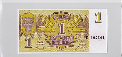 1992 Latvia 1 Rubles Lot of 4 Notes UNC