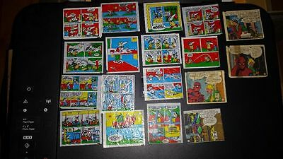 Lot with different gum inserts ~ gum wrappers~  Tipitip Spiderman Otto Motto