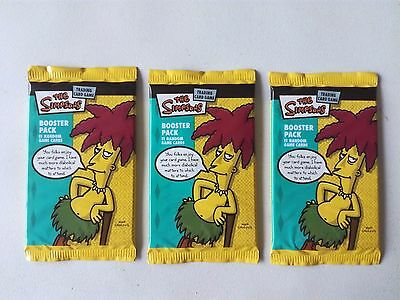 3x The Simpsons Trading Card Sealed Pack 2003 Sideshow Bob Wizards TCG