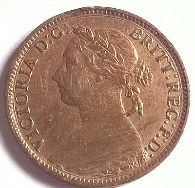 Victoria Farthing 1890. High Grade.