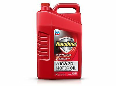 Havoline 223682474 10W-30 High Mileage Motor Oil - 5 Qt.