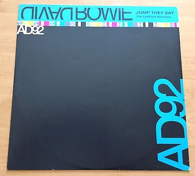 """David Bowie Jump They Say The Leftfield Remixes Dj Promo Only 12 """" Uk"""