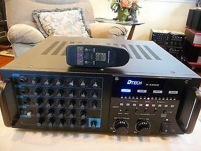 DTech D-3300K 800W Profesional Karaoke Mixing Amplifier With Remote Control