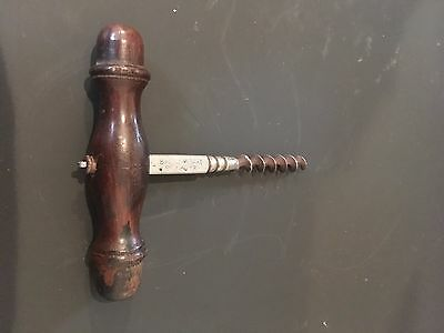 Vintage Bartholomay Brewery Mahogany and Steel Corkscrew