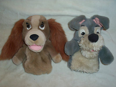 Walt Disney - Lady and the Tramp Hand Puppets / Soft Plush Toys