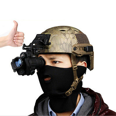 Hunting Infrared HD Digital IR Monocular Night Vision Telescope For Helmet Black