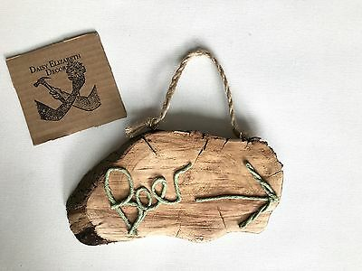 Handmade Log Slice Plaque Sign Shabby Chic Home Decor Wall Hanging Rustic Beer