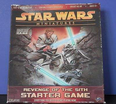 Star Wars Miniatures Revenge of the Sith Starter Game 12 Figures Complete