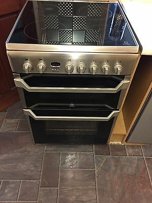 Indesit electric free standing fan oven (double) and hob.