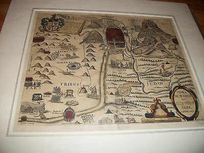 "ANTIQUE 1650 MAP from ""A PISGAH SIGHT OF PALESTINE"" by THOMAS FULLER"