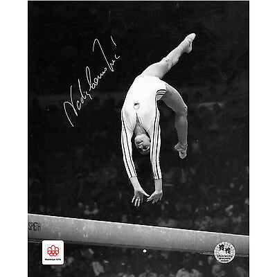 Nadia Comaneci Signed 16x20 in. Photo - Montreal 1976 Beam Perfection