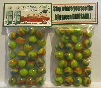 2 Bags of Sinclair Dino Gasoline Advertising Promo Marbles