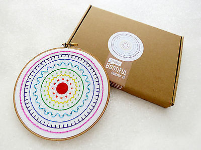 Rainbow Sampler Embroidery Kit. Embroidery For Beginners