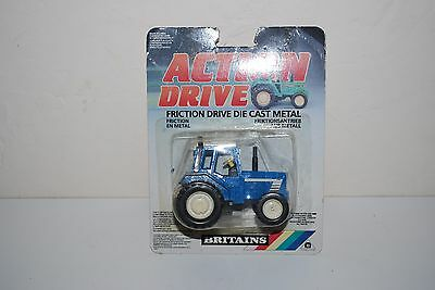 Britains Diecast Tractor Friction Model New On Card Action Drive Model Blue