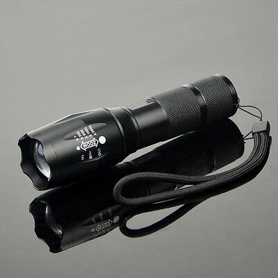 5000LM Military Police T6 Zoomable Torch Light Lamp LED Flashlight UK