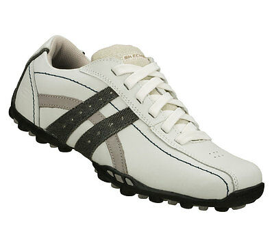 skechers talus burk mens white leather casual shoes