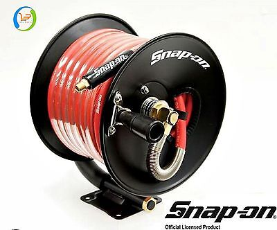 "Snap-On Air Hose Reel Rubber Brass Wall Mount Flexible 3/8"" X 50' 300 Psi New"