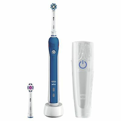Oral-B Pro 3000 CrossAction Electric Rechargeable Toothbrush Powered by Braun wi