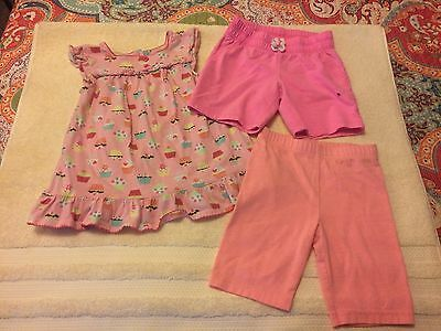Girls Size 5 /Summer Lot 3 Pieces Used Condition CUTE Shorts/Shirt